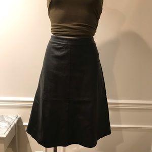 Forever 21 Faux Black Leather Full Skirt
